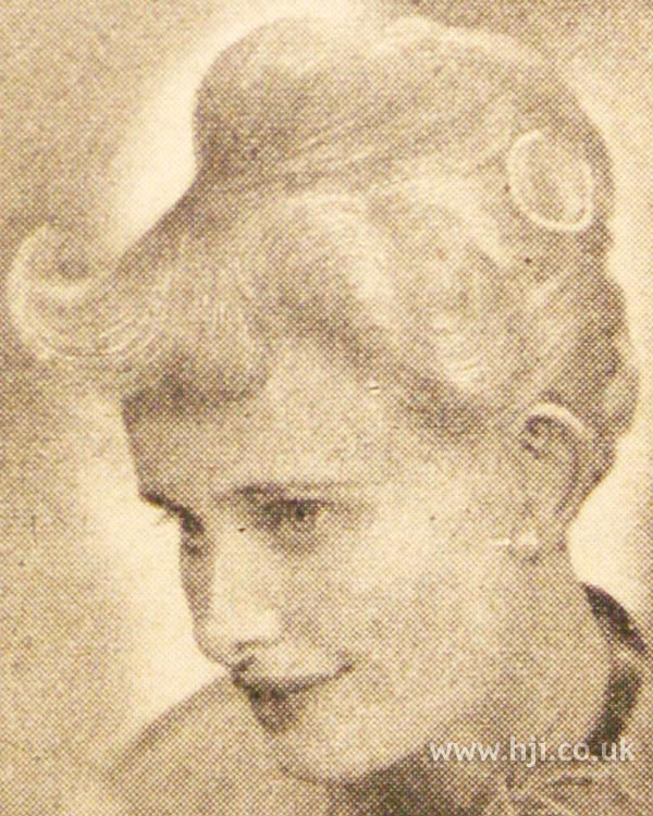 1950s bouffant hairstyle with fringe