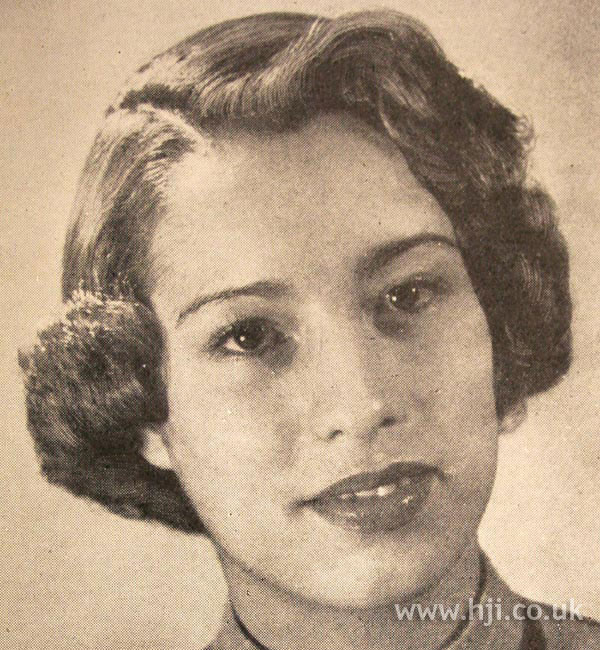 1950 parting fringe hairstyle