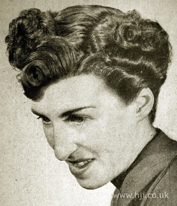 1950s zig zag parting waves