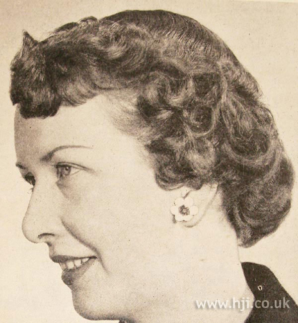 1950 short waves hairstyle