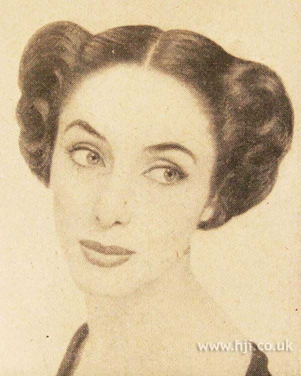 1951 brunette parting