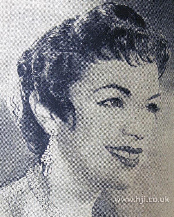 1954 brunette wavy updo