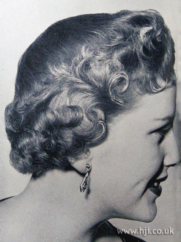1954 short curly bob