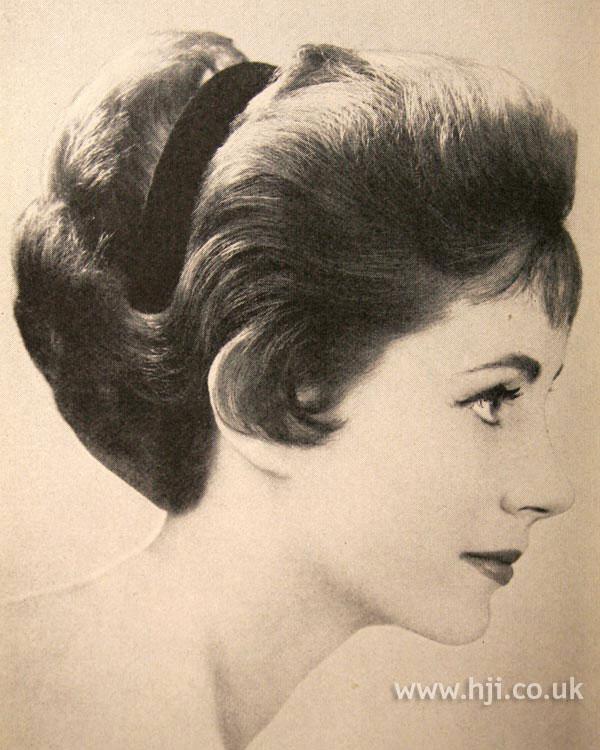 1956 soft waved updo