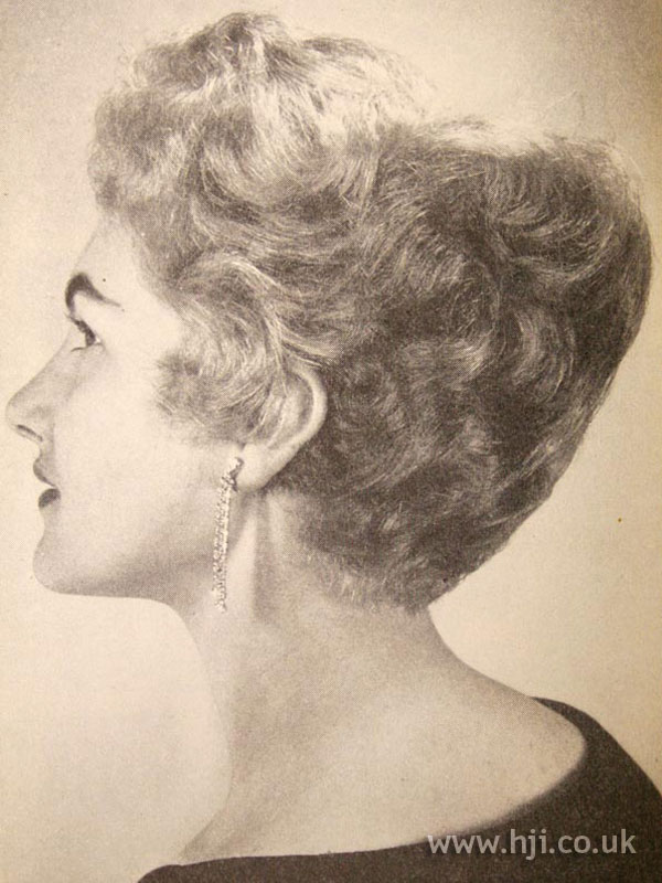 1957 blonde curly updo