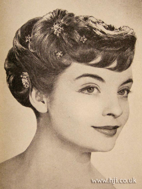 1957 decorated brunette