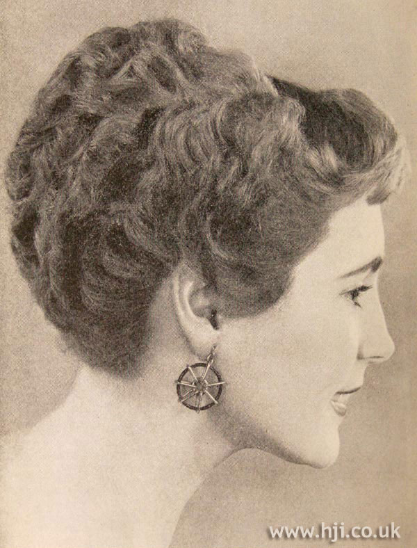 1957 grecian updo hairstyle