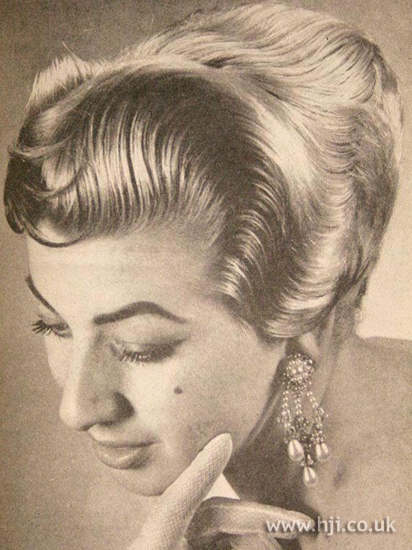 1957 smooth wavy updo