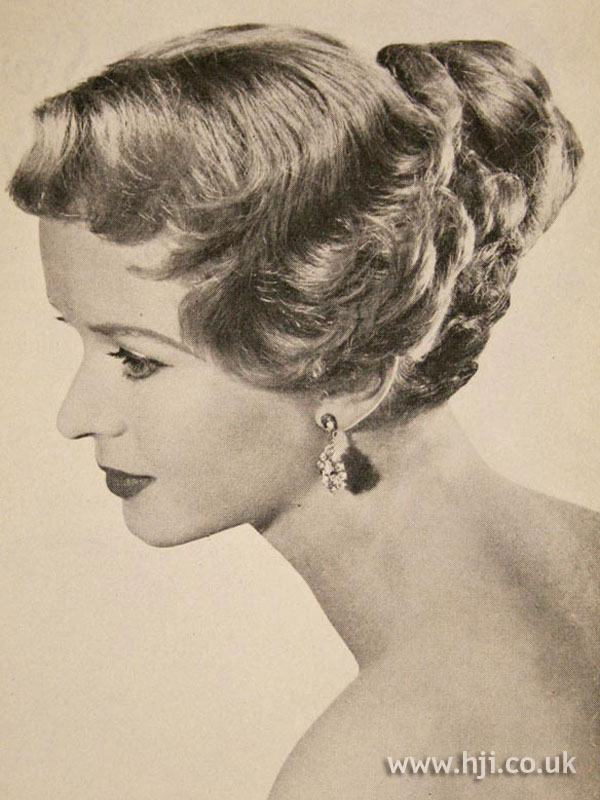 1957 fingerwaved updo