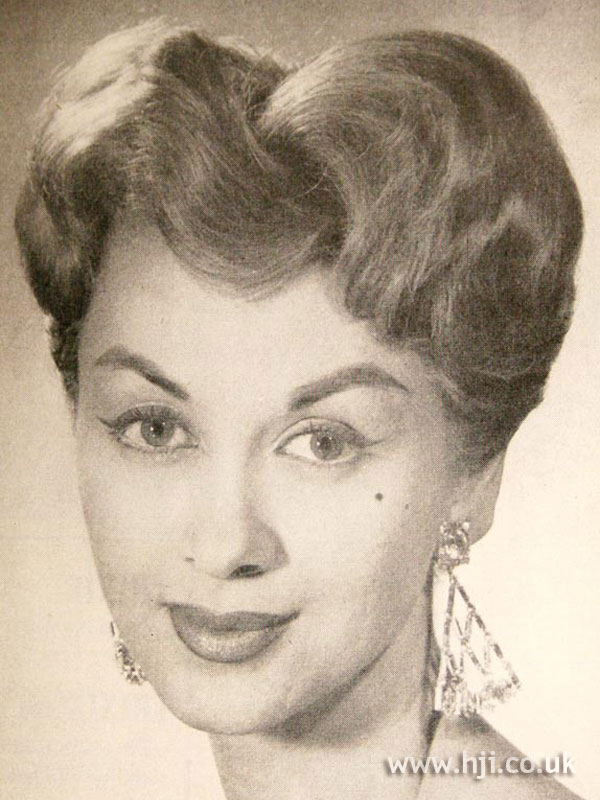 1957 wavy updo hairstyle