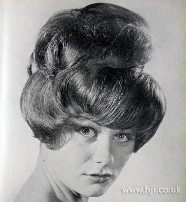1962 fringe updo hairstyle