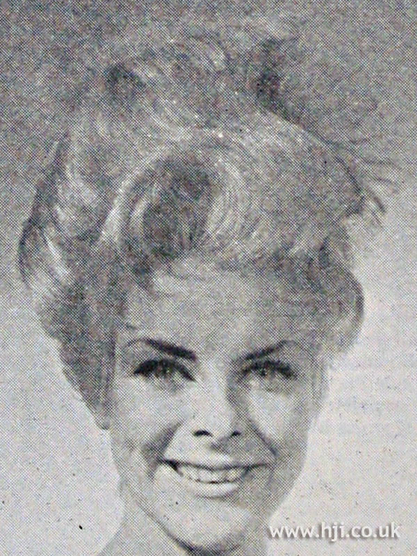 1962 updo with blonde waves