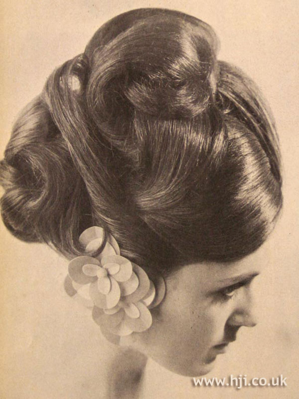 1966 brunette updo