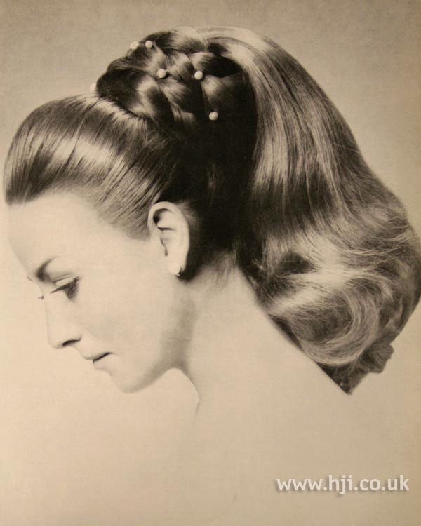 1966 plaits updo