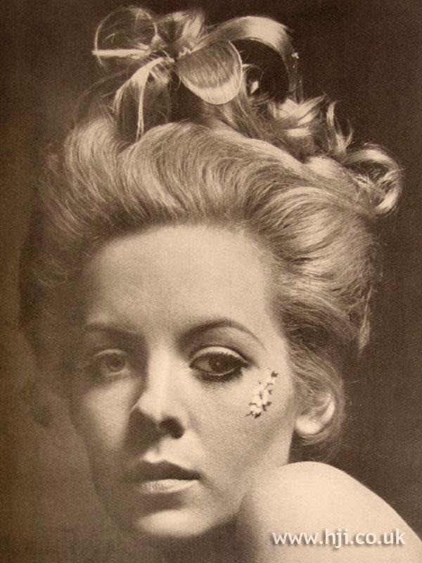 1967 blonde updo2