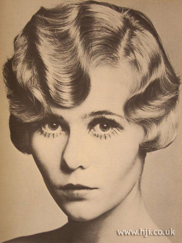 1967 blonde fingerwave style