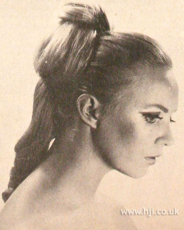 1968 blonde wavy ponytail