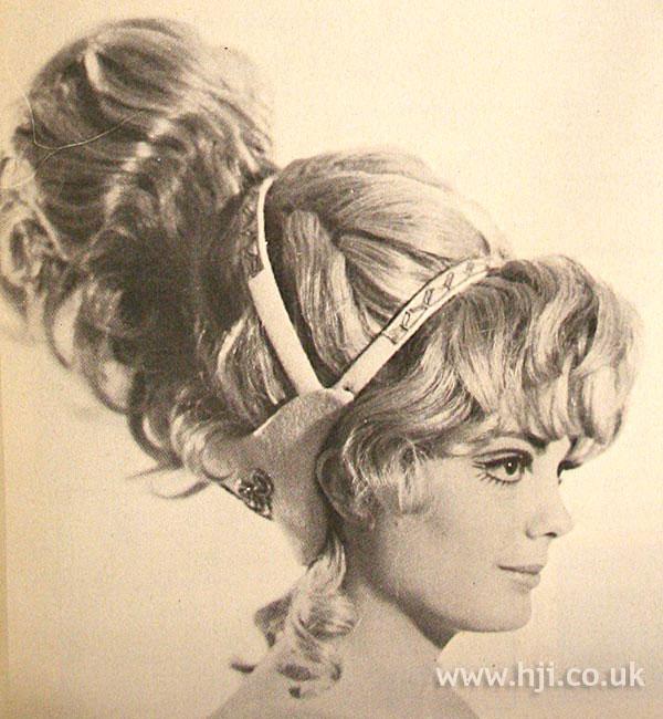 1968 blonde updo1