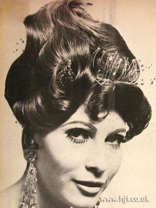 1968 brunette accessories hairstyle