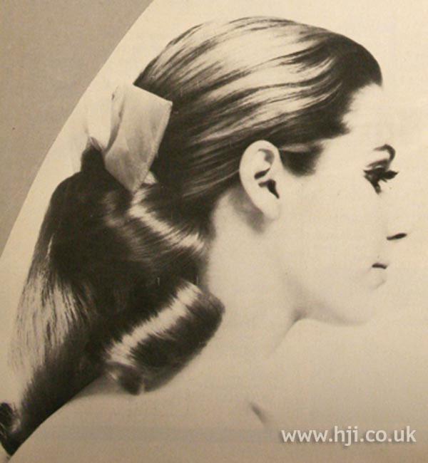 1968 brunette ponytail