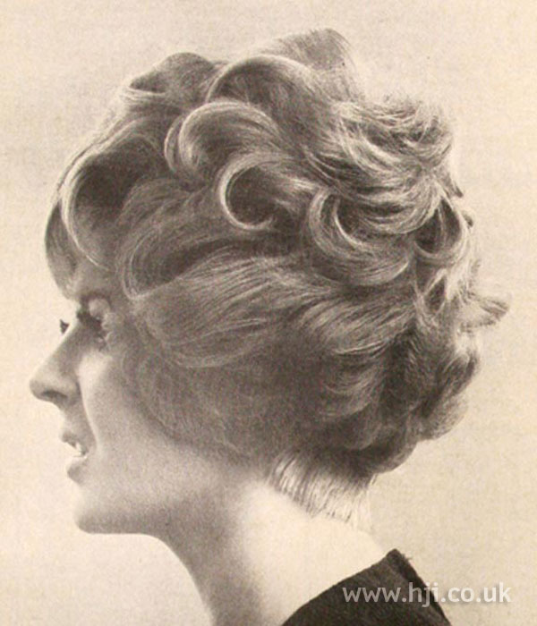 1960s Curled Updo Hairstyle