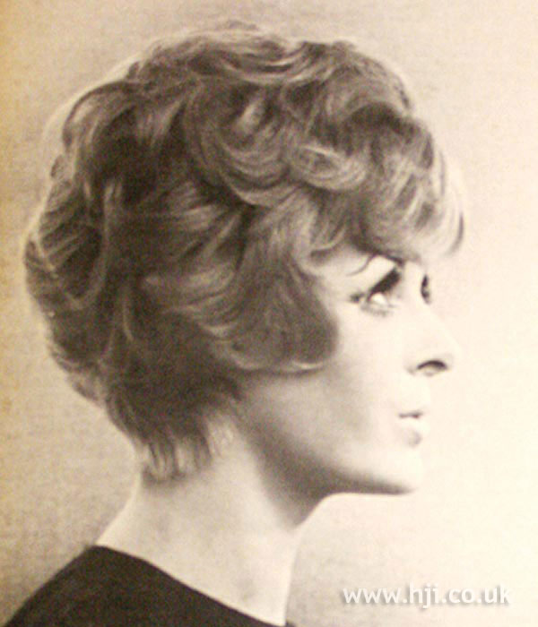 1960s curly bob bouffant hairstyle
