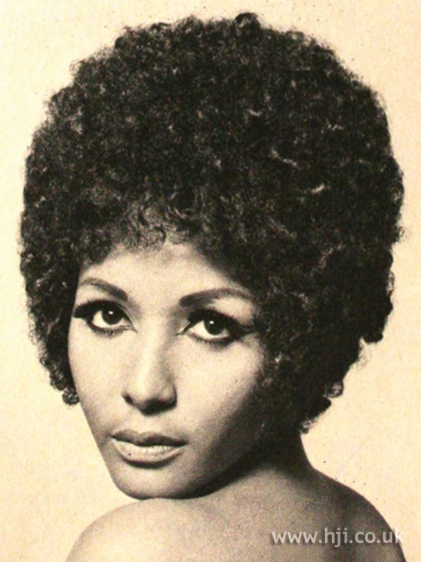1969 afro curls hairstyle