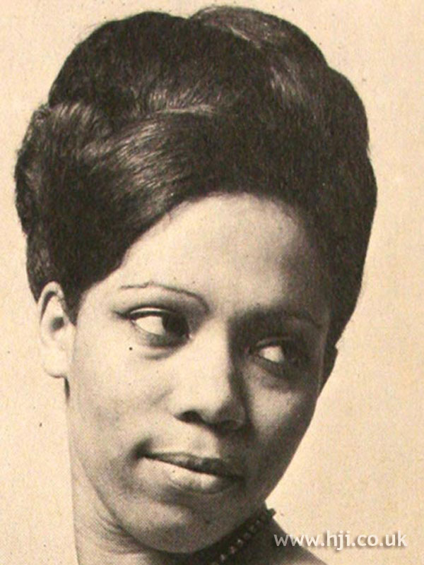 1969 afro updo hairstyle