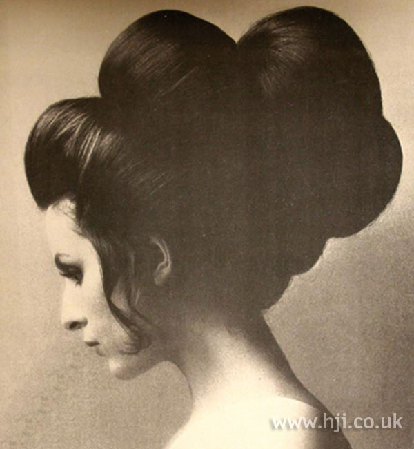 1960s Tiered updo hairstyle