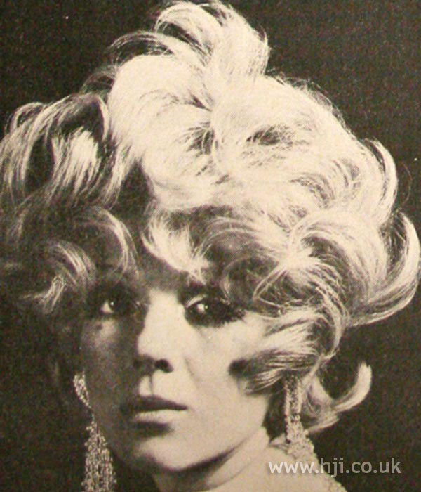 Curly 1960s bob hairstyle
