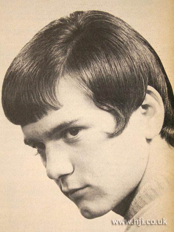 1960s men's hairstyle with fringe