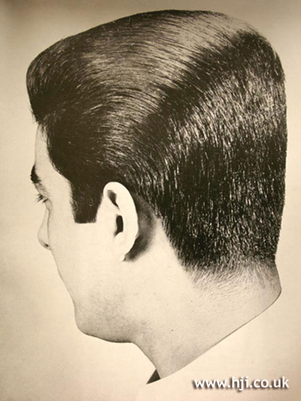 Swept back 1960s men's hairstyle