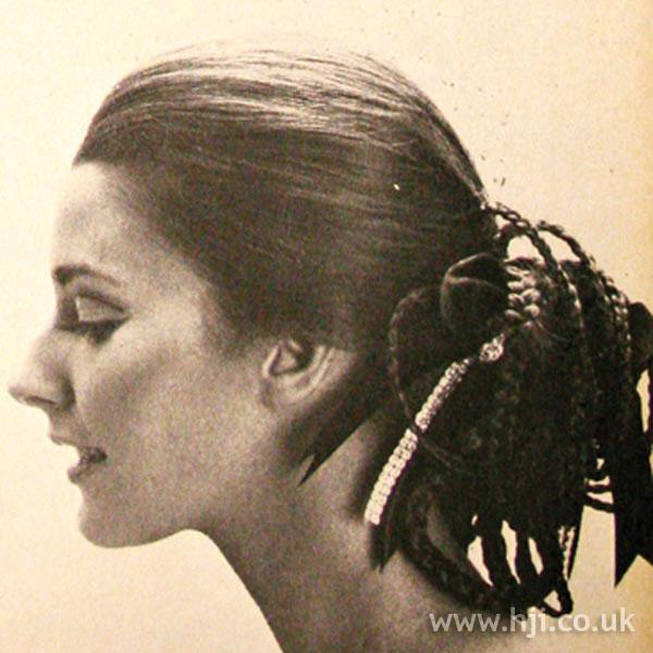 1969 plaits ponytail