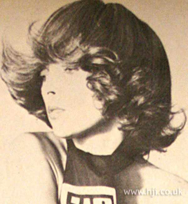 1960s curly flicked pageboy hairstyle