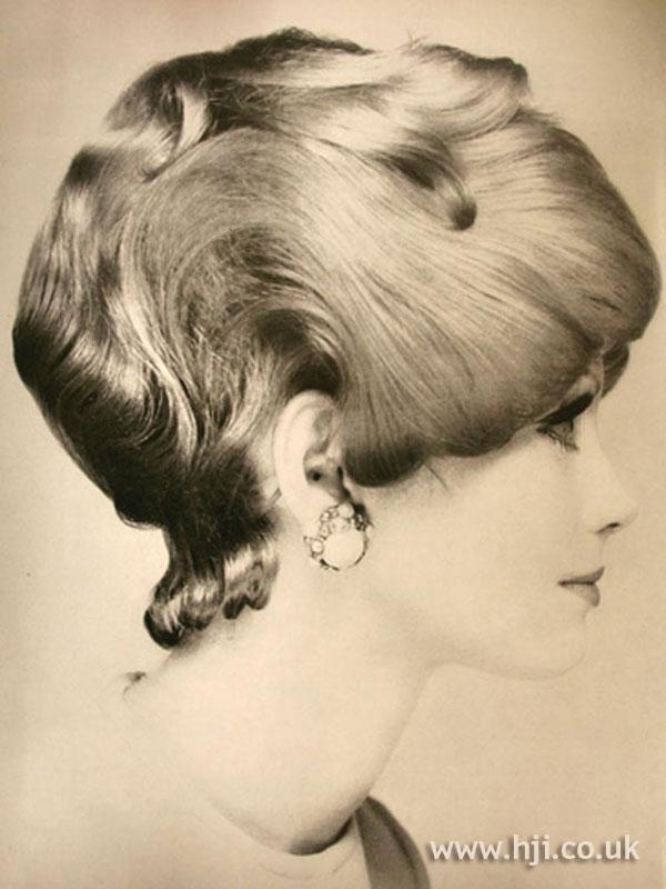 1960s bouffant bob with curls