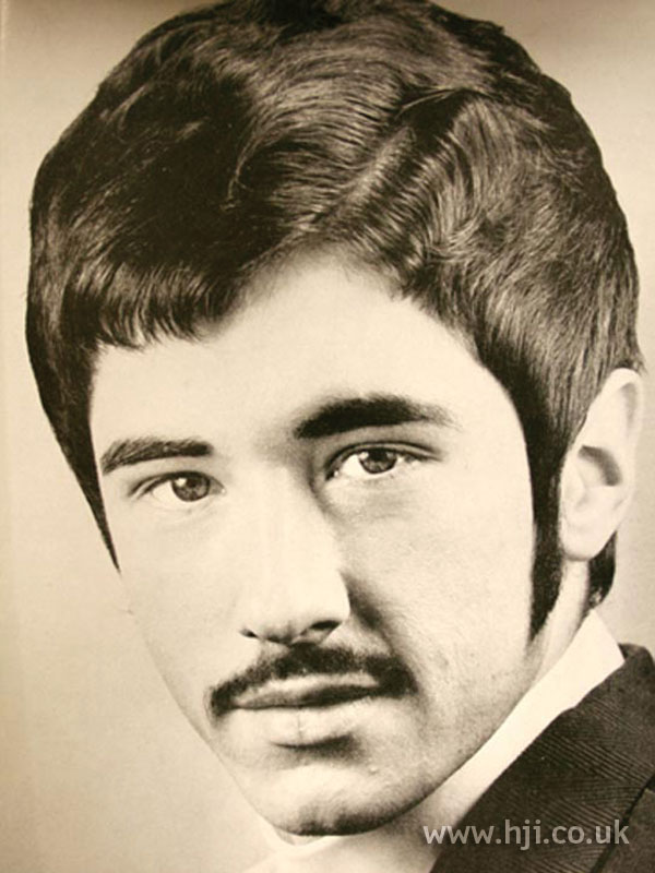 Side-parted 1960s men's hairstyle