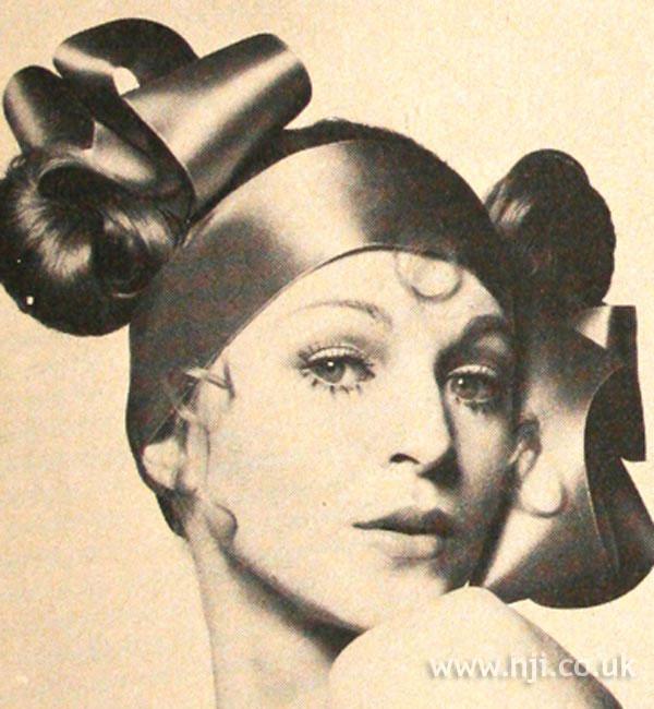 1969 updo asymmetric hairstyle