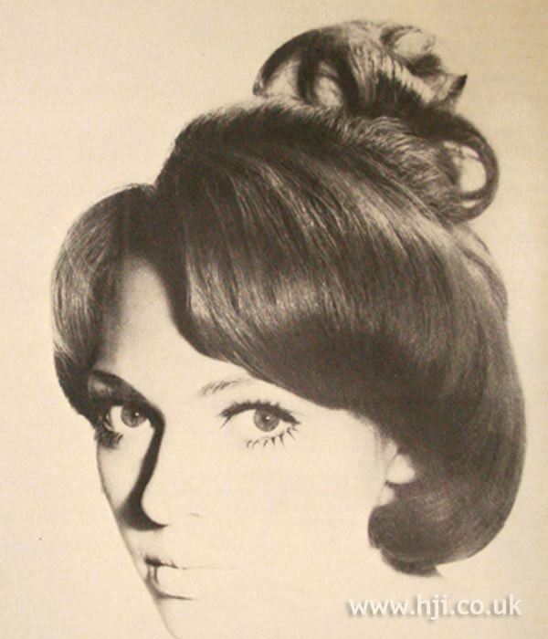 1960s updo with curl details