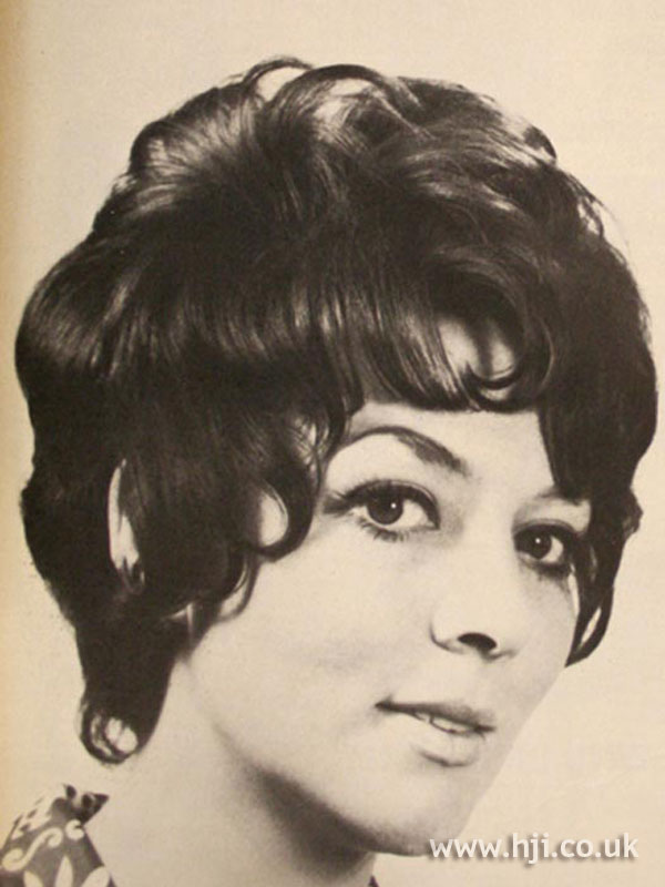 1960s curly bob with fringe