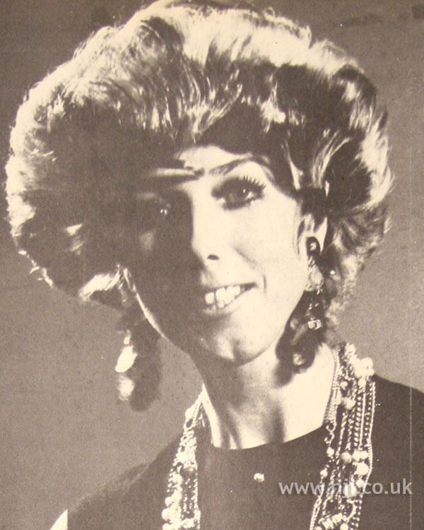 Voluminous 1970s hairstyle