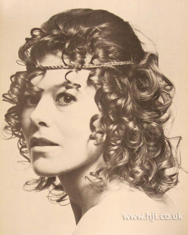1970 ringlets with braid detail