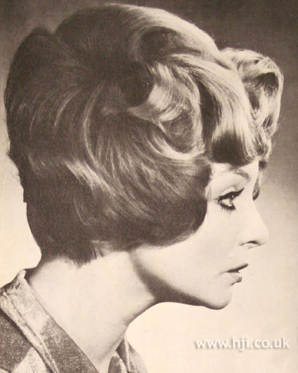 Short layered 1970s bouffant style