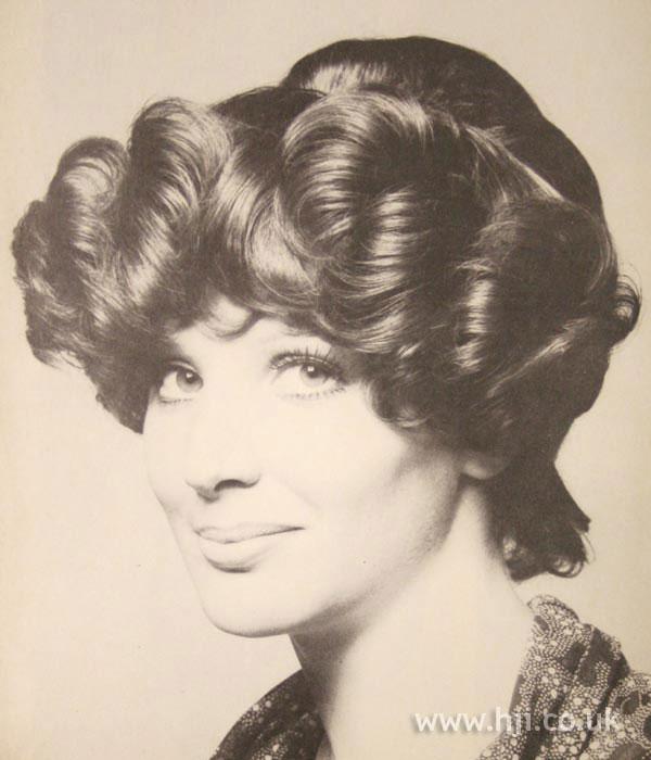 1970s curly chignon