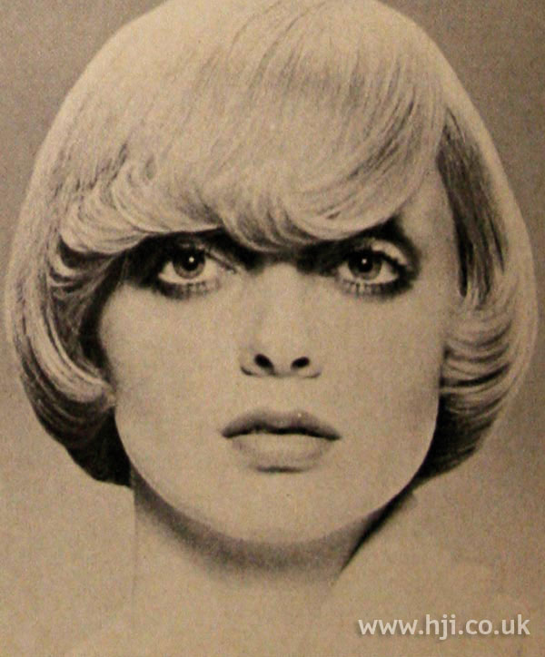 1970s flicked bob hairstyle