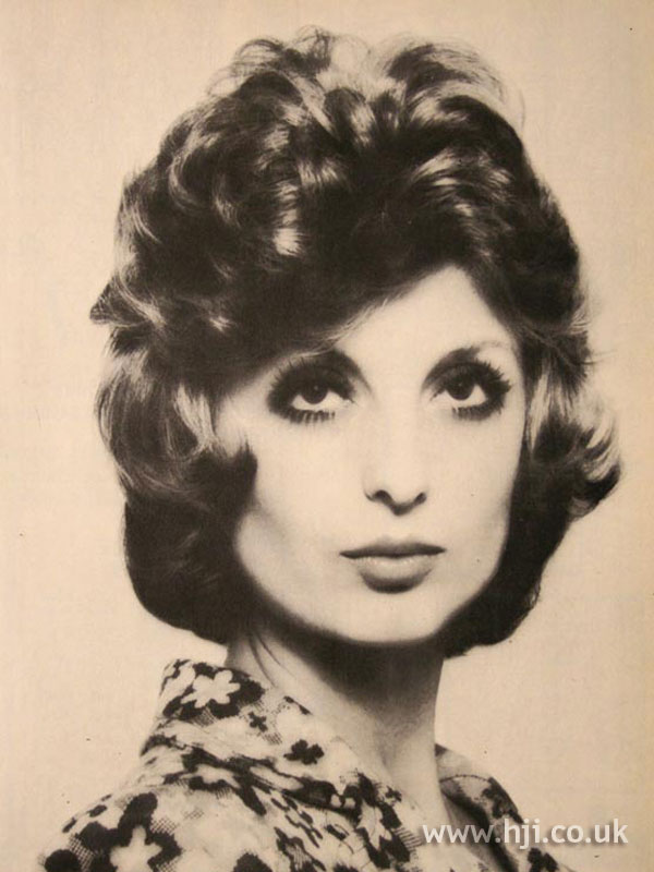 1970s brunette bouffant hairstyle