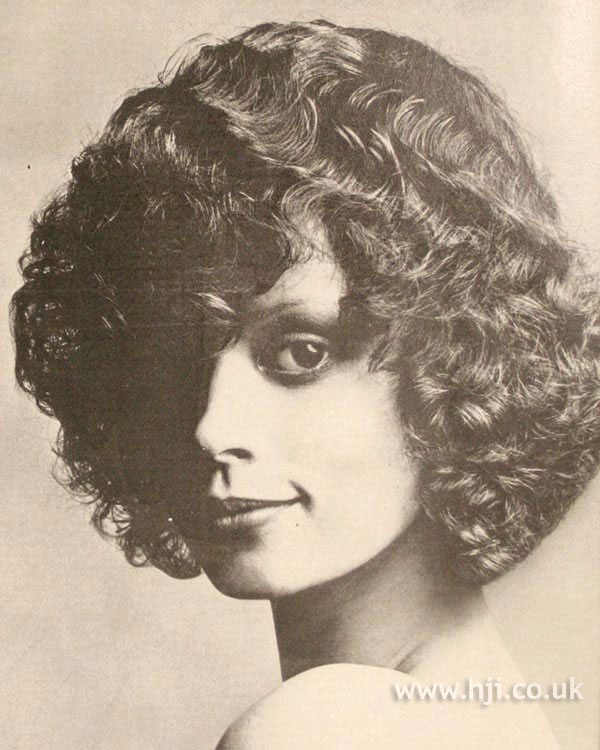 1970s curly Sassoon bob