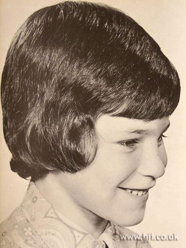 Short 1970s children's hairstyle
