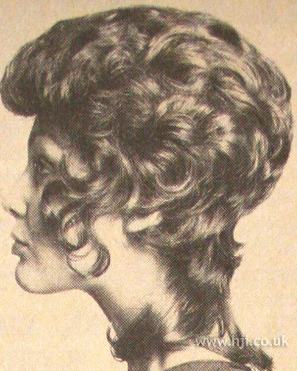1971 curly mullet with quiff