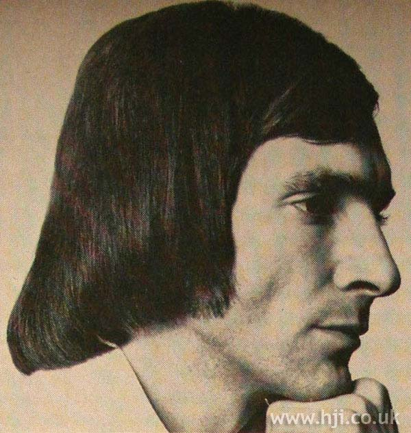 1970s men's pageboy with sweeping fringe