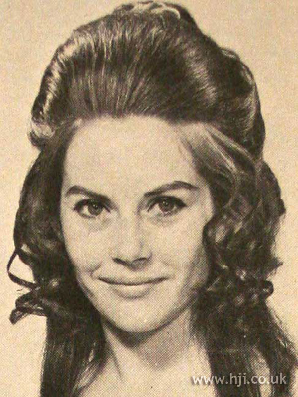 1970s bouffant with quiff